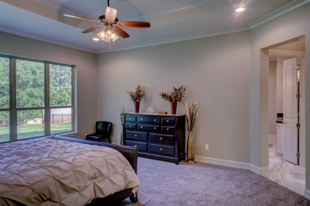 Bedroom with Home staging